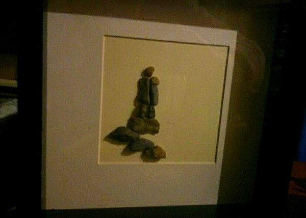 """Unspoken Love"" Pebble Art"