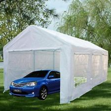 Quictent Pyramid-roofed H/D Portable Garage Carport Shelter Car Canopy 6x3m