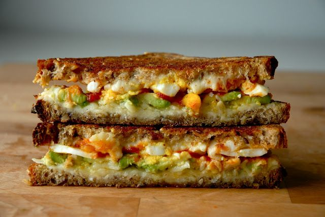 The Morning After Grilled Cheese: Sriracha, Breakfast Grilled, Avocado, Recipes, Boiled Eggs, Breakfast Sandwiches, Grilled Chee Sandwiches, Grilled Cheeses, Grilled Sandwiches