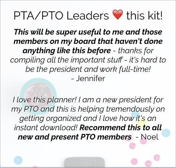 Perfect PTA / PTO Planner & Organizing Kit Printable