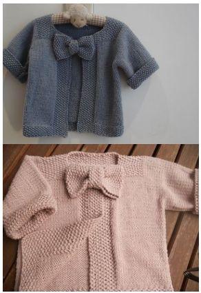 Tutoriel gratuit, en français, tricot. Pour tricoter ce ravissant gilet  pour bébé avec ce0b053164d