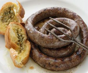 Boerewors with garlic bread