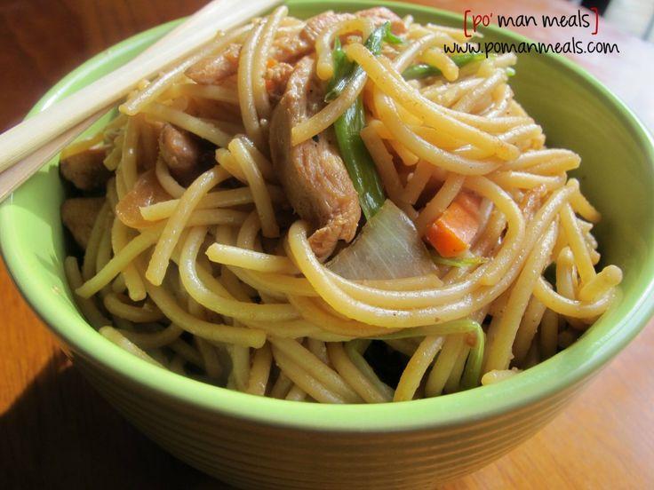 po' man meals chicken lo mein #lomein #chicken
