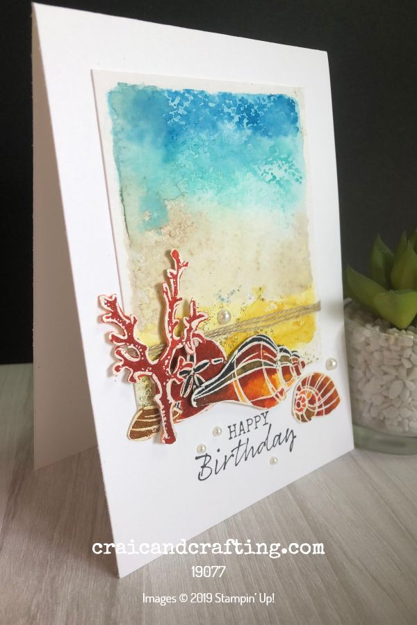 Easy Block Stamping Watercolour Background Stampin Up Cards