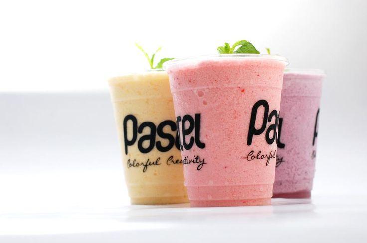 Pastel smoothies