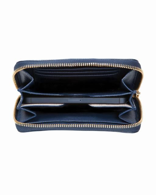 Michael Kors Gestreiften Iphone ® 5 4s Und 4 Zip Wallet Navy  Weiß Saffiano 0 #fashionhandbags#jewellery #jewellerydesign}