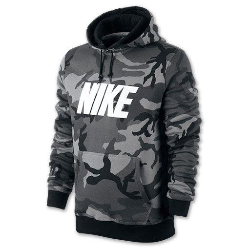 Men's Nike Woodland Camo Hoodie| FinishLine.com | Black/Anthracite/Black