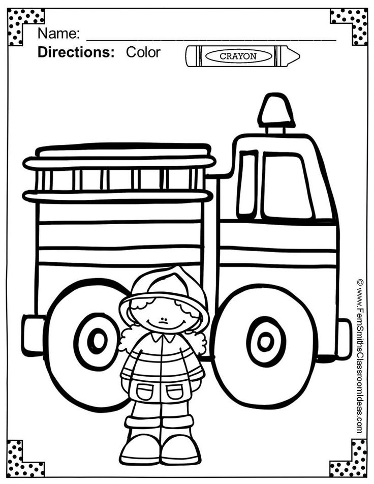 28 best kids firefighter coloring pages images on pinterest for Fire station coloring page