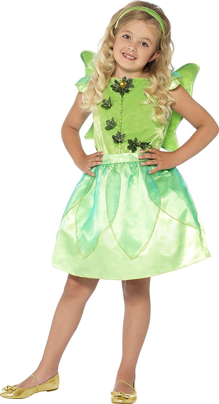 Smiffy's Toddler's Forest Fairy Costume, Dress, Felt Wings and Headband, Ages 3-4, Colour: Green, 44101: Smiffys: Amazon.co.uk: Toys & Games