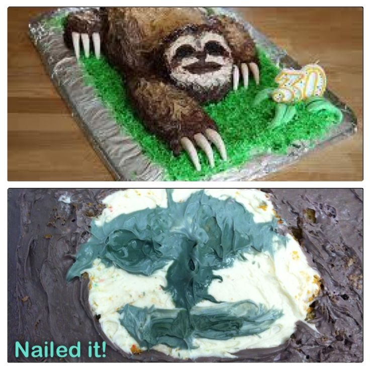 Messed Up Life Quotes: Sloth Cake FAIL!