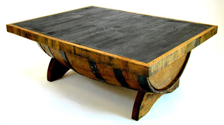 Bourbon Barrel Coffee Table with Storage Space Inside (Square, black, natural oak, brown, green, steel) by HungarianWorkshop on Etsy https://www.etsy.com/listing/155333744/bourbon-barrel-coffee-table-with-storage