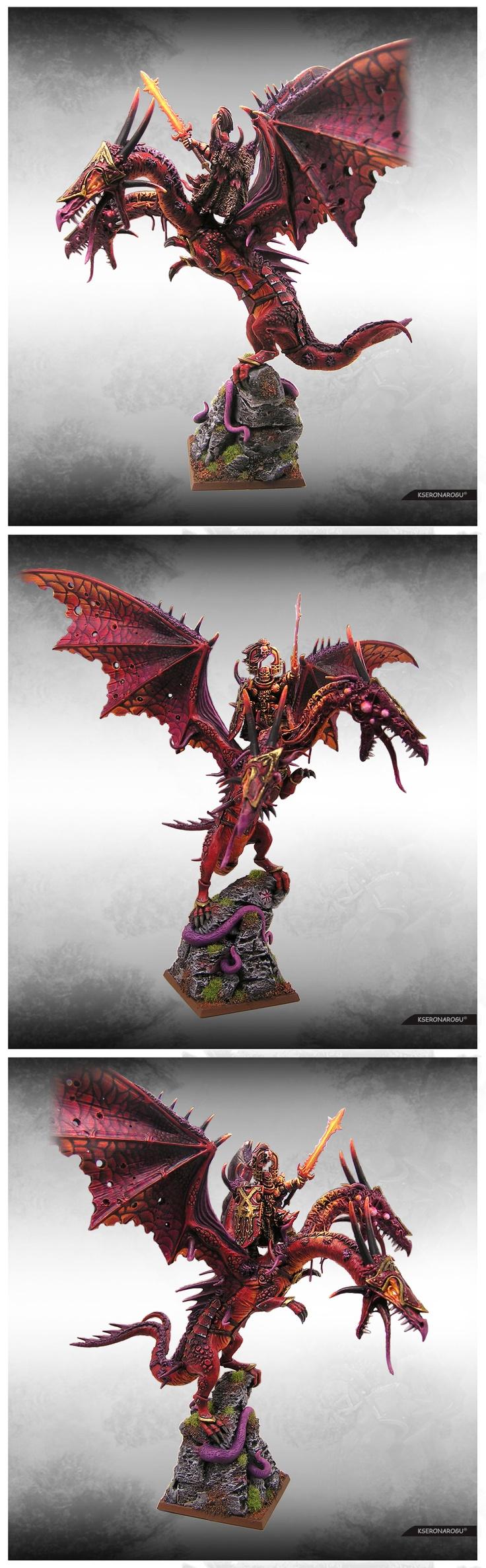 Khorne Lord on Chaos Dragon