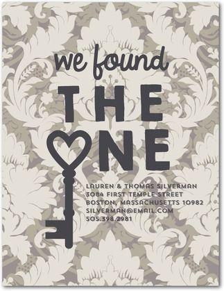Newfound Key - Moving Announcement Postcards - Baumbirdy - Flint - Gray | www.WeddingPaperDivas.com
