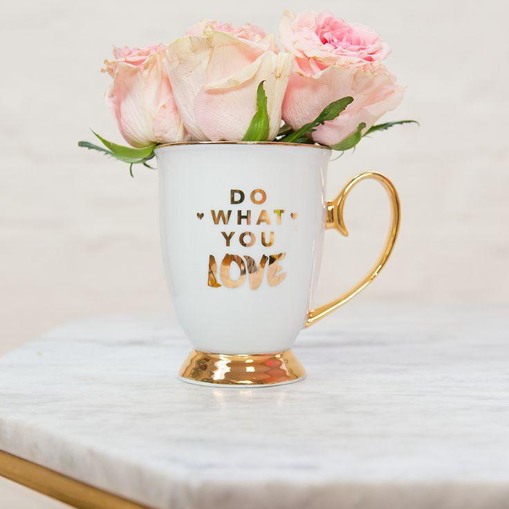 Cristina Re - 'Do What You Love' Mug - 24ct Gold Plated