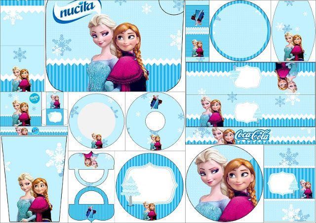 Frozen Navidad Azul: Etiquetas para Candy Bar para Imprimir Gratis.                                                                                                                                                     Más
