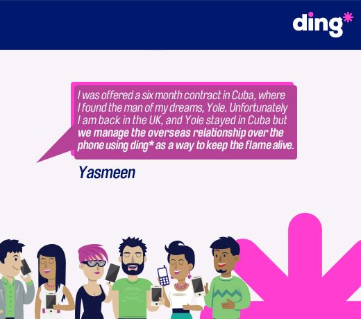 Yasmeen tells us how she keeps in touch with the love of her life using ding*! www.ding.com