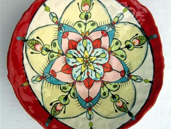 Flower bowl - Maureen Visagé http://www.maureenvisage.co.za/