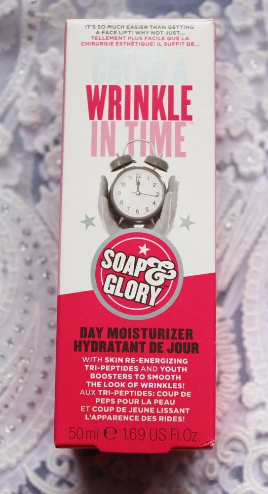 Soap & Glory Catch A Wrinkle In Time Day Moisturizer 1.69 US Fl Oz NIB
