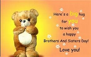 Image result for Funny National Sibling Day Quotes