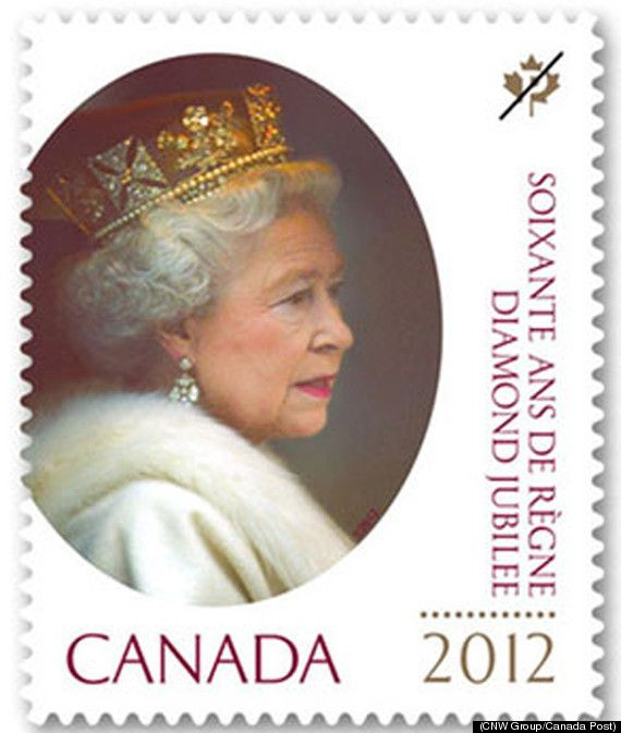 Queen Elizabeth Diamond Jubilee Canadian Postage Stamp 2012