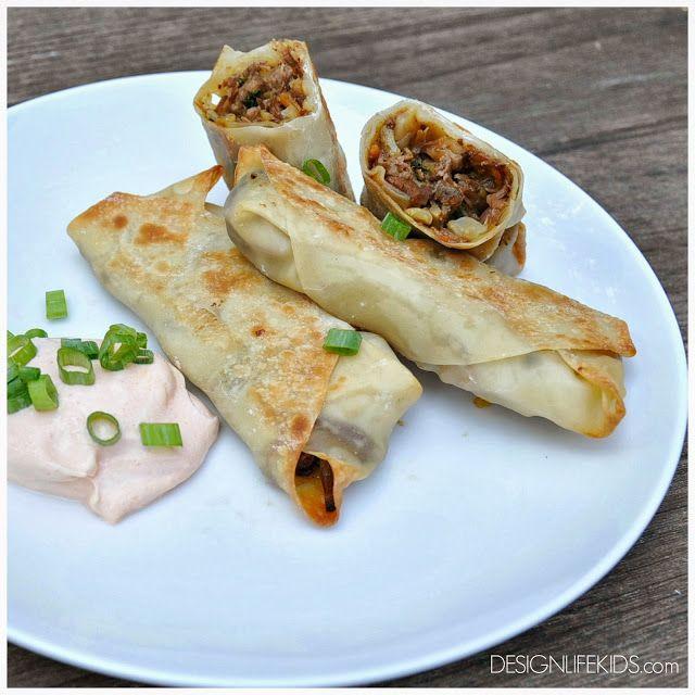 { cooking with kids } korean beef egg rolls — SHOP DLK ...
