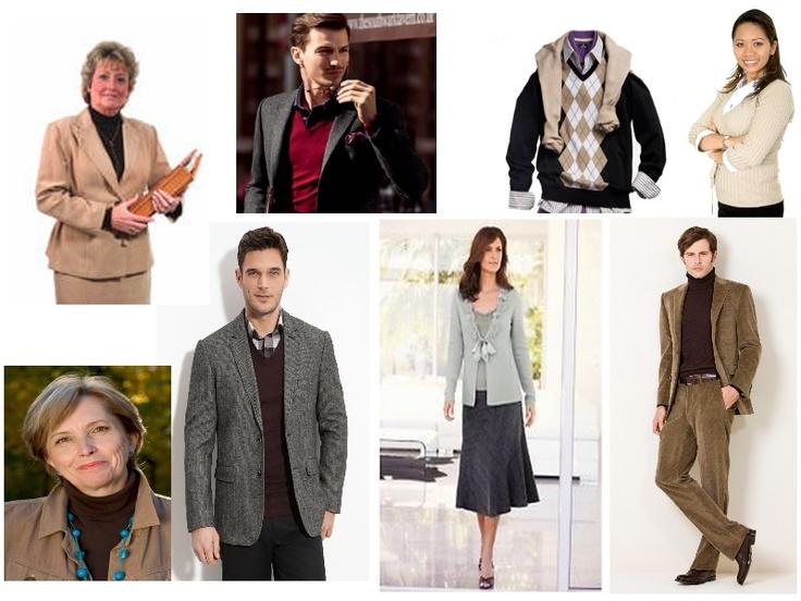 Strój pół-swobodny (smart casual) – trzeci z 4 poziomów elegancji biurowej.  Spodnie (często wełniane lub materiałowe), koszula, sweter, marynarka (żakiet) - dopuszczalne marynarki tweedowe i wełniane. Tu dopuszczalne są zestawy bliźniak - bluzka i sweter w podobnym odcieniu. No jeans !   Strój często stosowany w biurach gdzie nie obowiązuje podwyższony dress code a także na nieoficjalne spotkania, weekendowe zebrania oraz na tzw. casual friday.