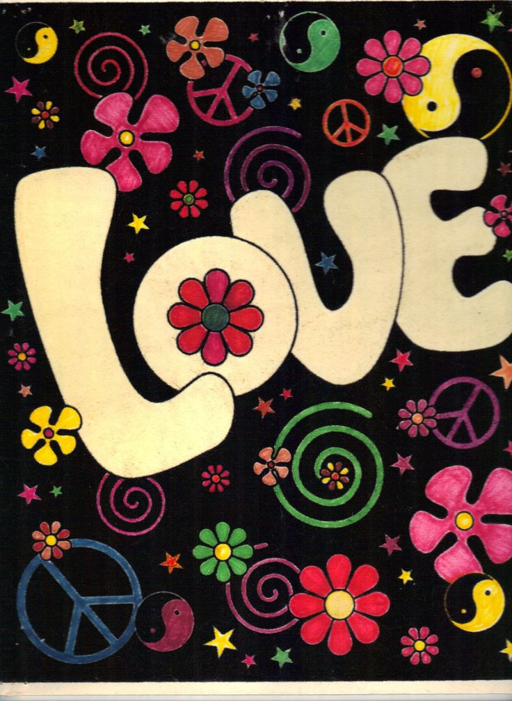 We used to write love and peace on our notebooks in this kind of lettering. Groovy!