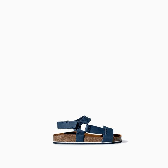 Image 1 of Leather bio sandal from Zara