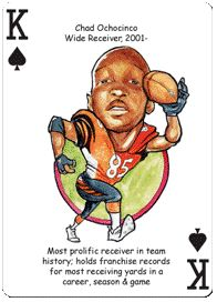 chad ochocinco football cards | Football Playing Cards For Cincinnati Bengals Fans Includes: