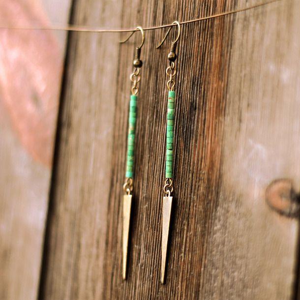 Fab.com   Turquoise Drop Earrings
