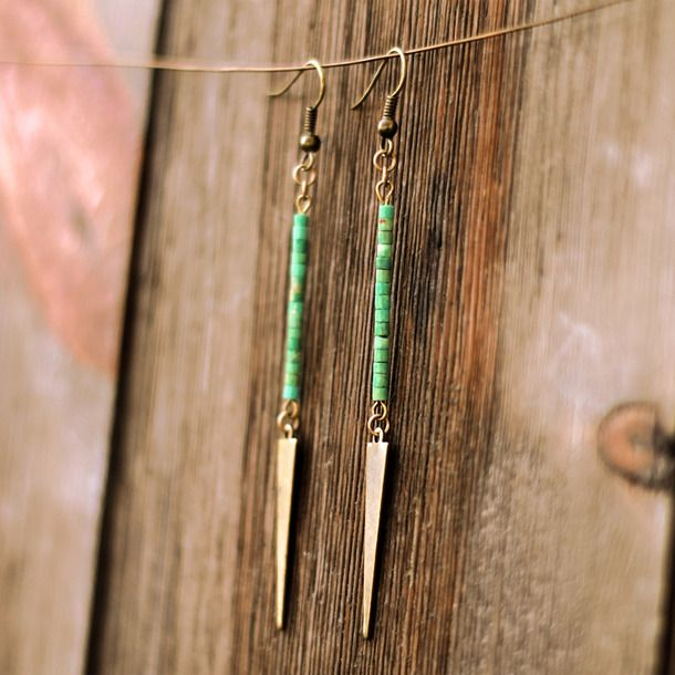 | Turquoise Drop Earrings - DIY INSPIRATION - such easy earrings!
