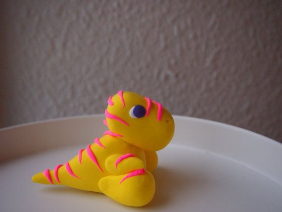 OOAK Yellow Pink Striped Tyrannosaurus Rex T-Rex Soft by Anorichan