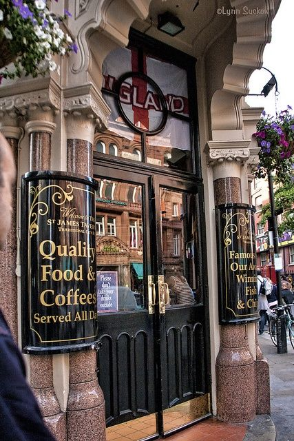 St James Tavern in London's Soho district.