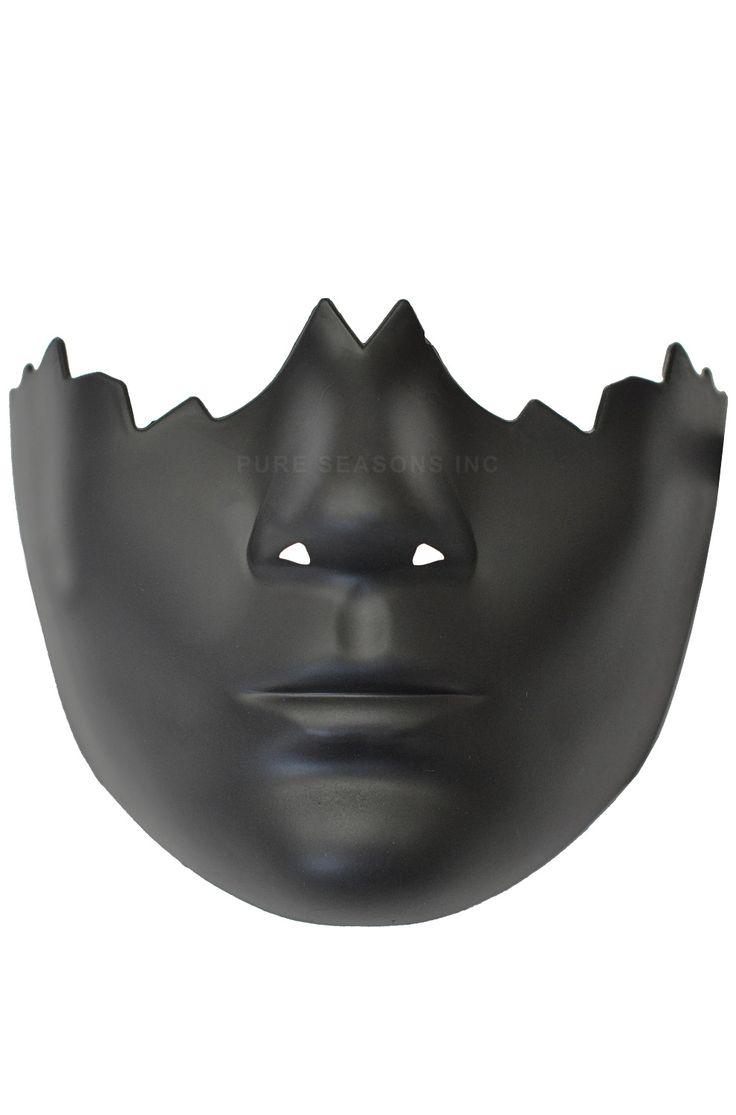 Broken Face Half Mask (Black)