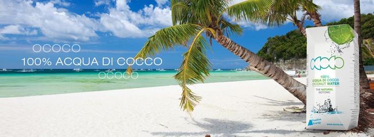 Dalle spiaggie dei tropici arriva un'onda di energia, OCOCO 100% acqua di cocco