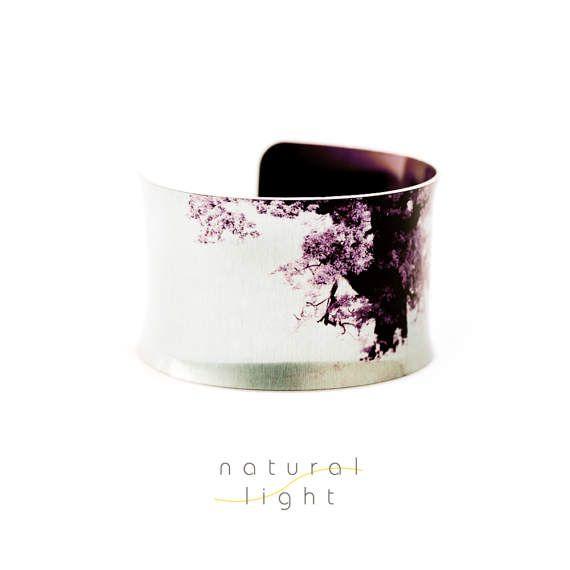Cuff Bracelet - Ancient Oak Tree - Hippy Boho Jewelry - Boho Fashion - Gift for Her - Aluminium Jewellery - Aluminum Jewelry - Wearable Art