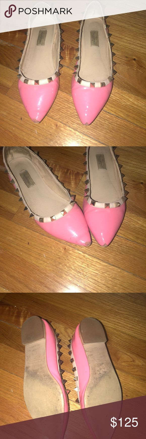 Valentino Rockstuds Valentino rockstuds for sale! Worn but still in decent condition (1 stud missing) Valentino Shoes Flats & Loafers