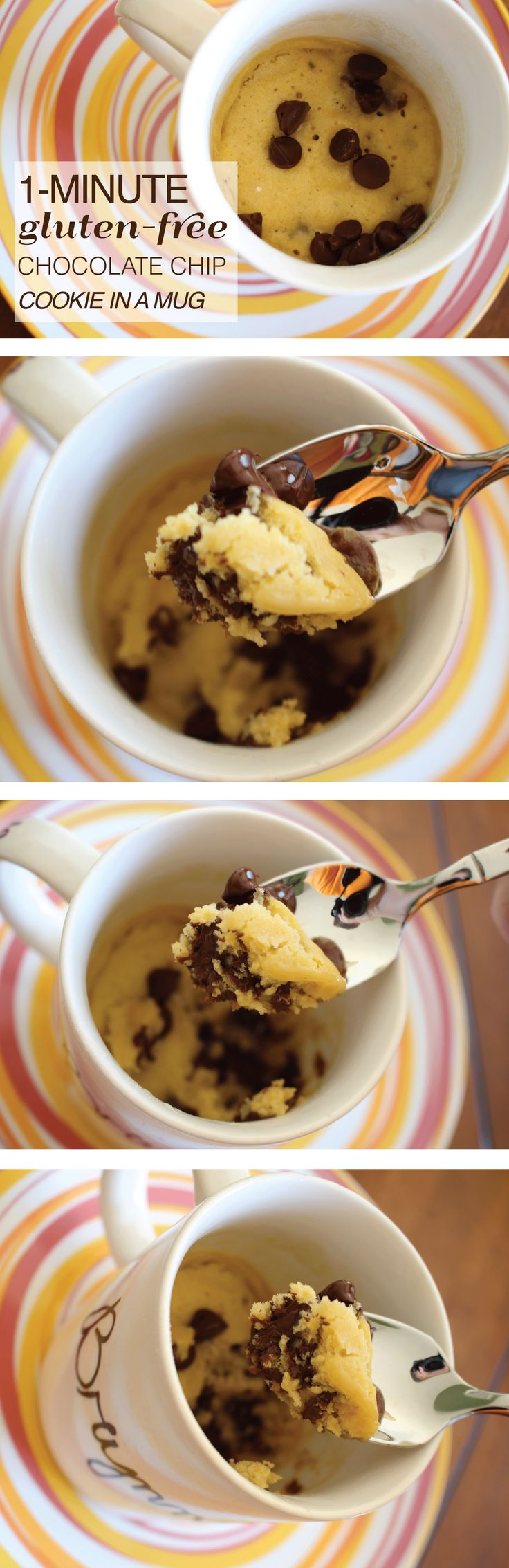 1-Minute Gluten-Free Chocolate Chip Cookie in a Mug Recipe
