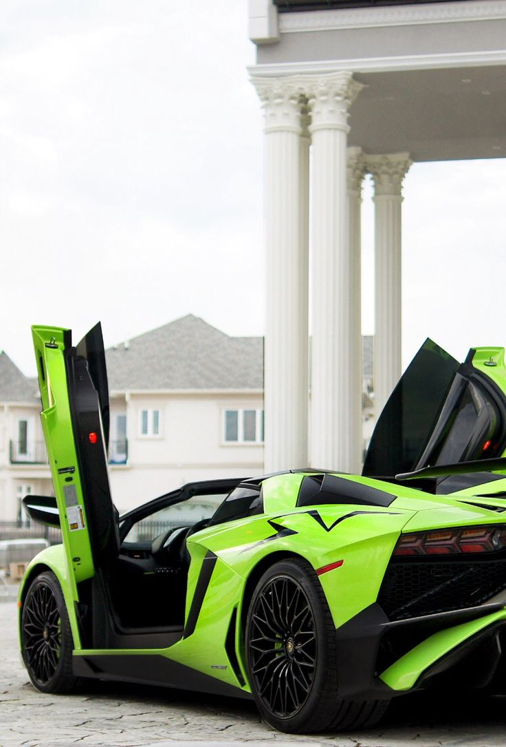 Green Goblin Lamborghini Aventador SV.                                                                                                                                                                                 More