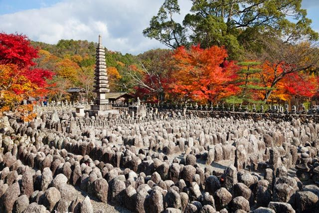 Tempio di Adashino Nembutsu-ji, ad Arashiyama, Kyoto, Giappone