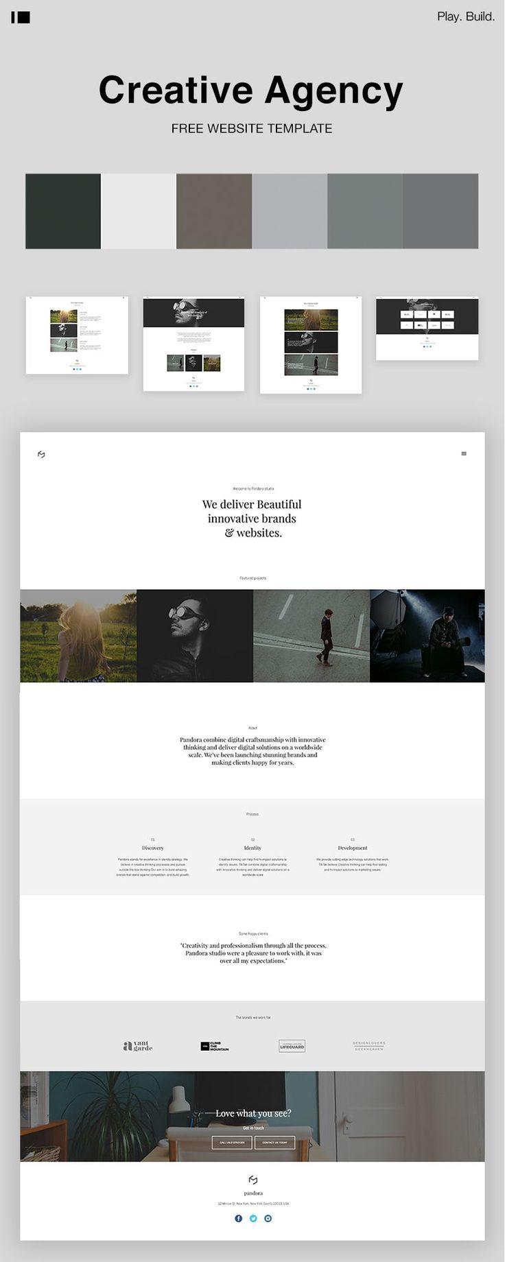 Creative agency website template template templates