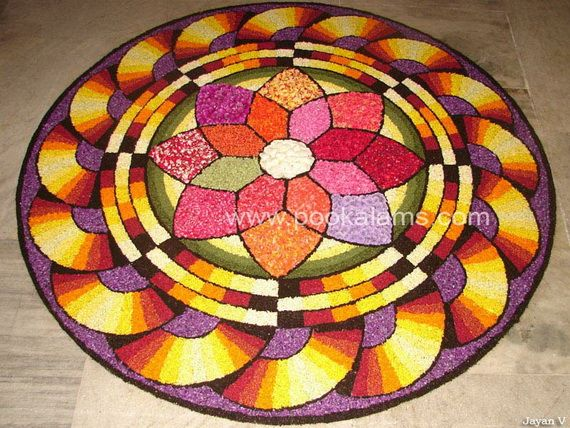 50 Best Pookalam – Indian Floral Design For Onam Festival