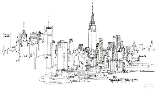 city skyline drawing tumblr