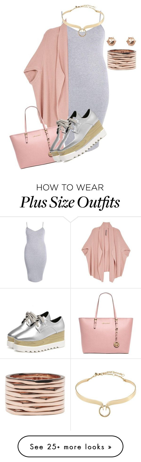 """""""Plus size pretty and chic"""" by xtrak on Polyvore featuring Boohoo, Melissa McCarthy Seven7, MICHAEL Michael Kors, Alexis Bittar, Repossi and plus size clothing"""