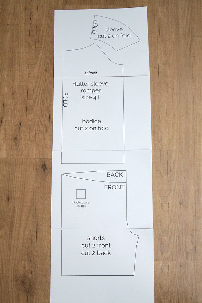 free pattern for girls flutter sleeve romper & sewing tutorial