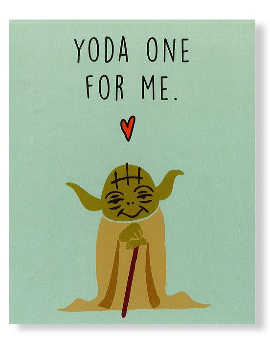 "Valentine's Day 2016: Cards That Are Sweeter Than Candy | People - Cotton on ""Yoda one"" card"