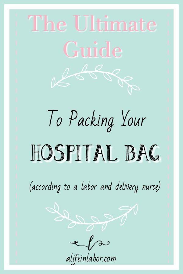 Diese von einer Krankenschwester erstellte Checkliste für Krankenhaustaschen ist das ultimative …   – Baby 101