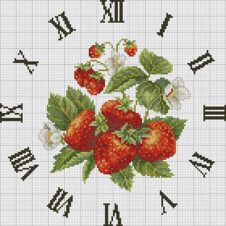 Gallery.ru / Фото #3 - 13 - KIM-3 / strawberries clock (1/3)