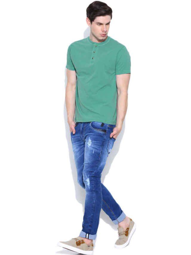 Dream of Glory Inc. Sea Green Henley T-shirt