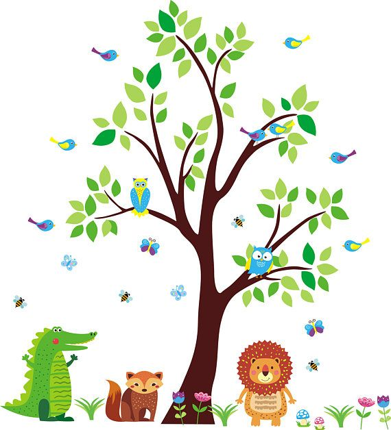 Best Forest And Woodlands Nursery Wall Decals Images On Pinterest - Nursery wall decals jungle